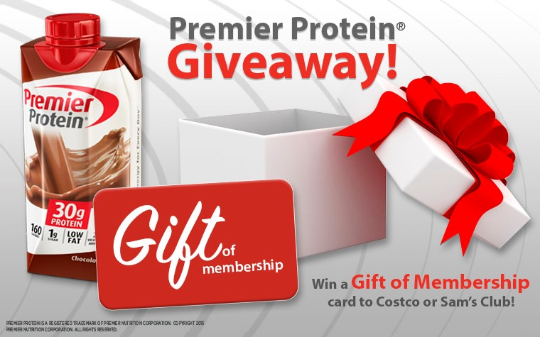 Premier Protein Gift of Membership Giveaway
