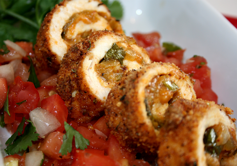 Chicken Chile Relleno Rolls Recipe – 30g of Protein!