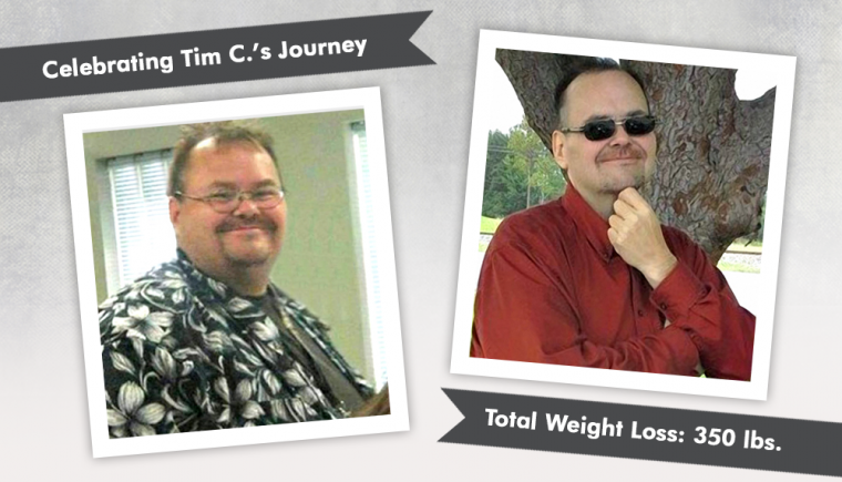 before after rny with tim losing 350 pounds