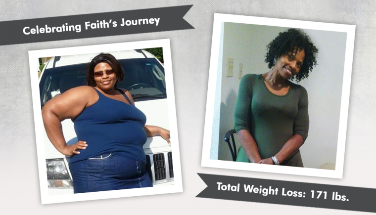 before after vsg with faith losing 171 pounds