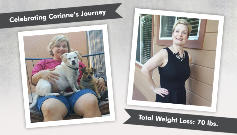 vsg corinne losing 70 pounds 50 inches